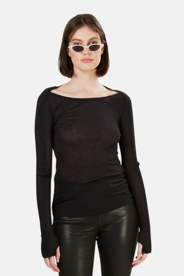 T by Alexander Wang Boat Neck LS
