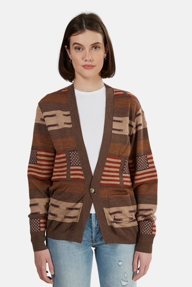 Remi Relief Wool Native Boarder Cardigan
