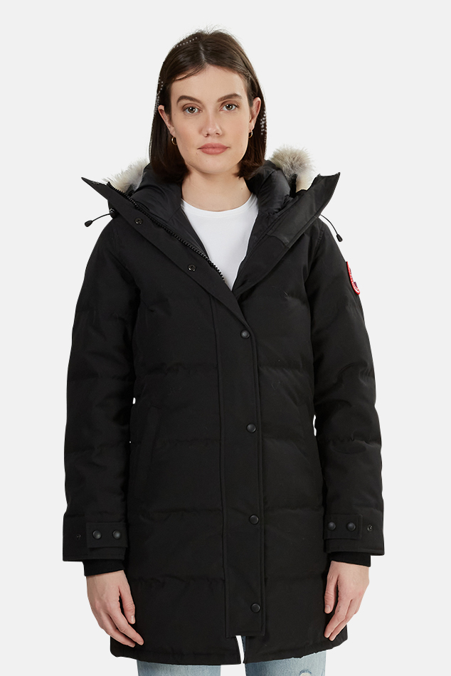 Women's Canada Goose Shelburne Parka Jacket in Black, Size Small