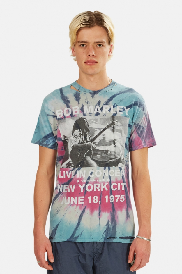 Blue&Cream Bob Marley Live In NYC Tie Dye Tee