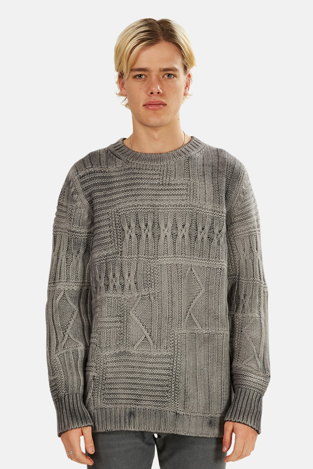 Men's Avant Toi Chunky Knit Pullover Sweater in Husky, Size Large