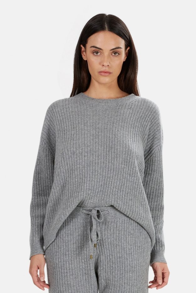 The Tile Club Evelyn Ribbed Cashmere Sweater