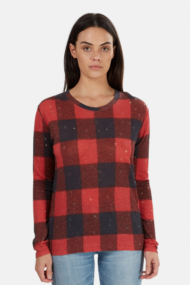 IRO Marvina Buffalo Check Tee