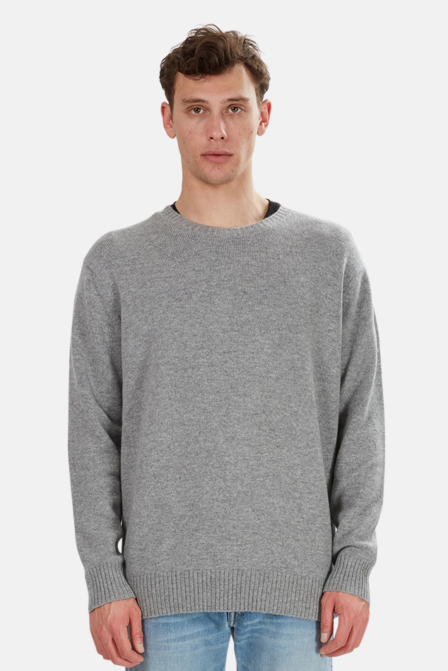 Men's The Tile Club Oversized Cashmere Sweater in Grey, Size Large