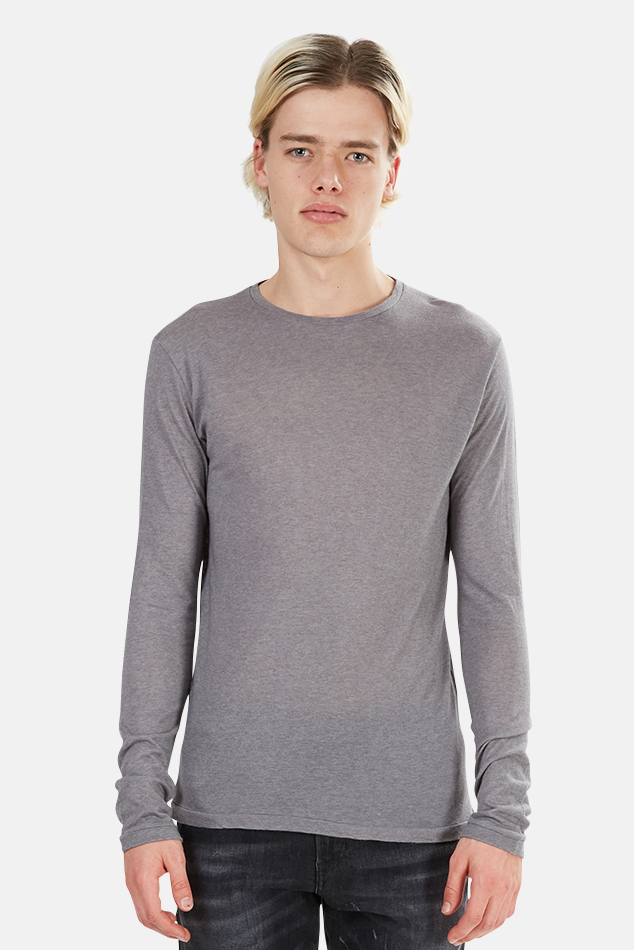 Men's Crossley Rast Cashmere Crewneck Long Sleeve Sweater in Grey, Size Large