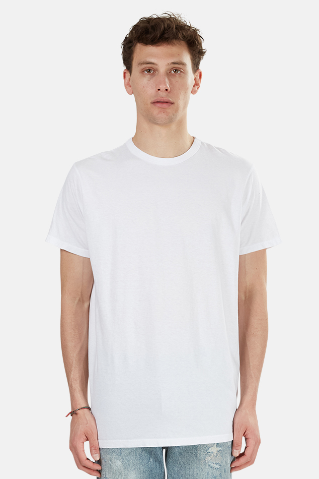 Men's RE/DONE Long Modern T-Shirt in White, Size Large