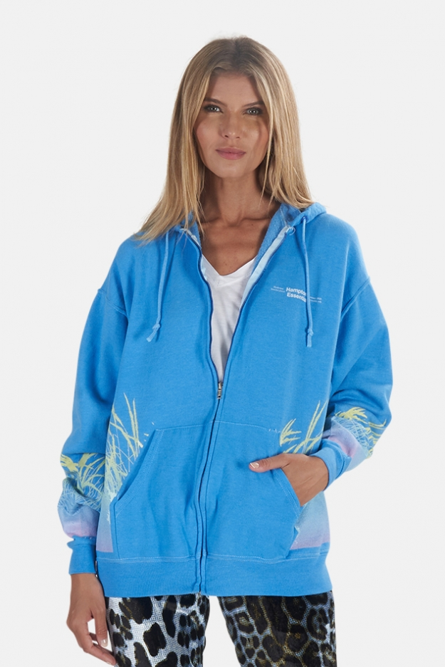 Blue&Cream Beach Gradient Hamptons Hoodie