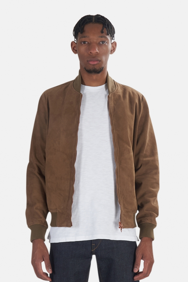 President's Leather Suede Bomber