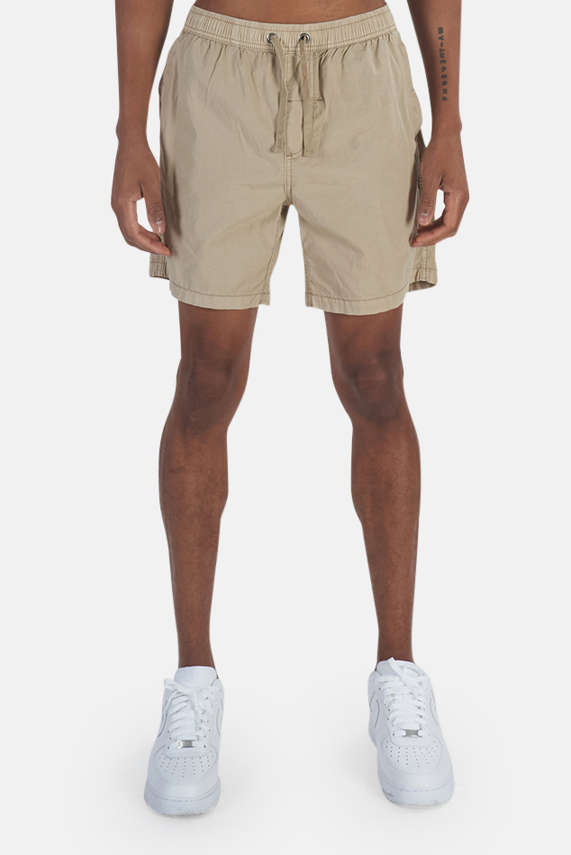 Men's Thrills Minimal Thrills Volley Short in Tan, Size 36