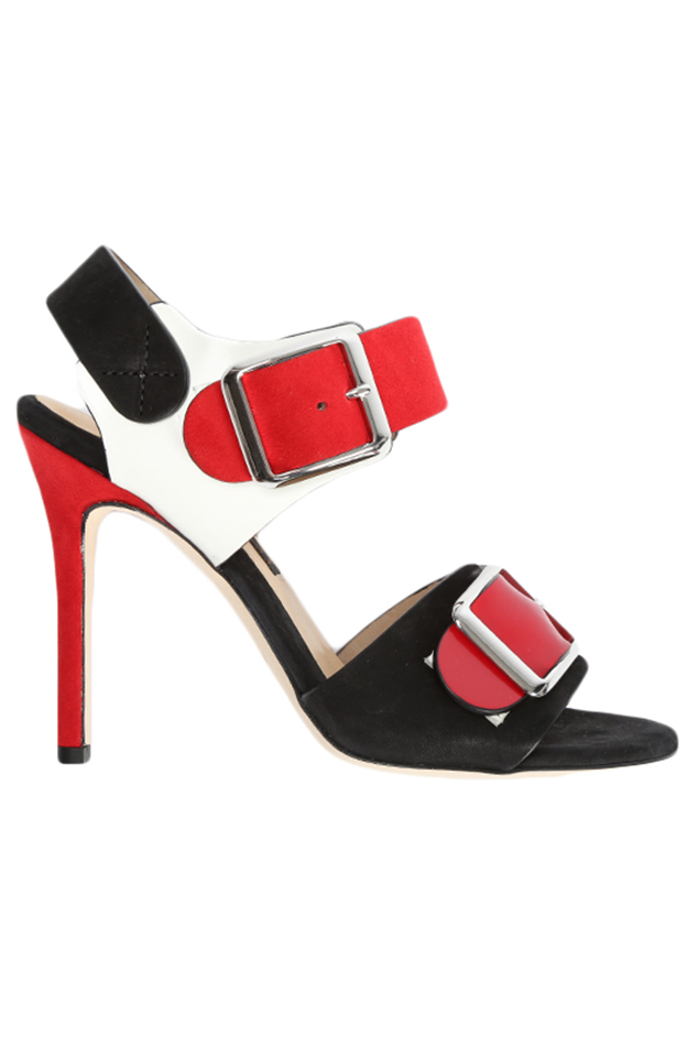 Women's Chrissie Morris Ida Crystal Calf Shoes in Red, Size 36