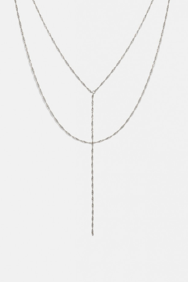 Women's Electric Picks Uptown Necklace - in Silver