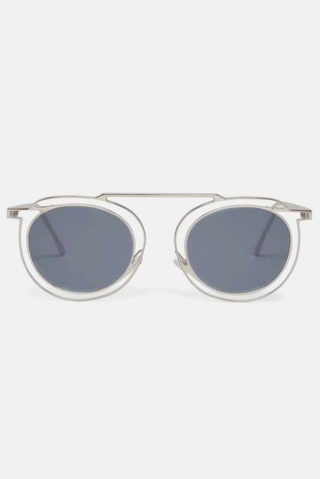 Women's Thierry Lasry Potentially Sunglasses in Silver & Solid Grey