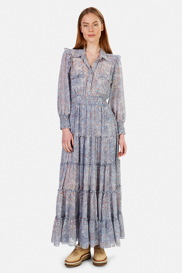 Women's MISA Los Angeles Aydeniz Dress in Washed Tile, Size Medium