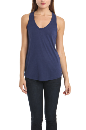 Women's Kimberly Ovitz Rex Racerback Tank Top in Old Blue, Size Small