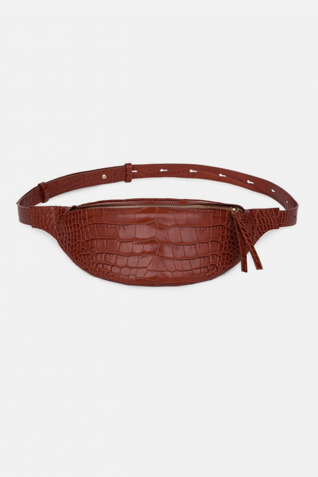 Nanushka Lubo Belt Bag in Burgundy