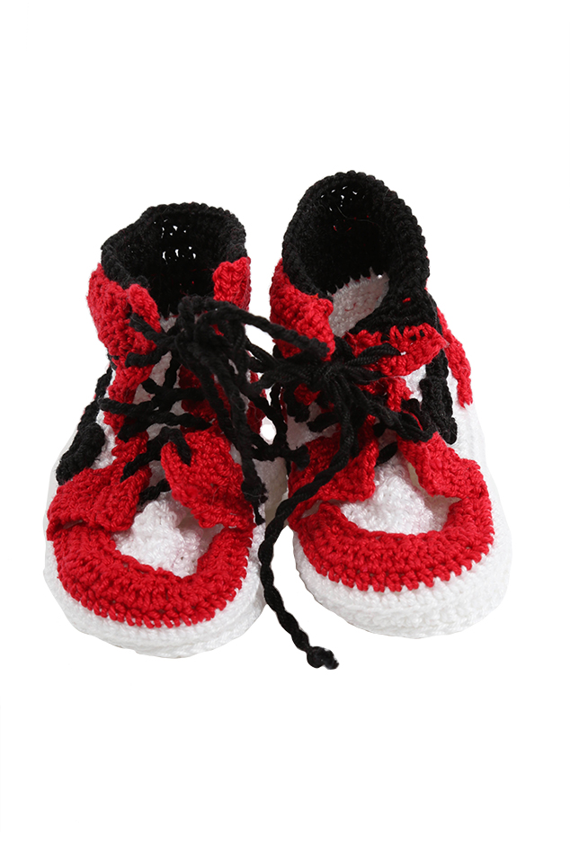 PICASSO BABE AJ1 Bootee Shoes in Red, Size 3-6 mo