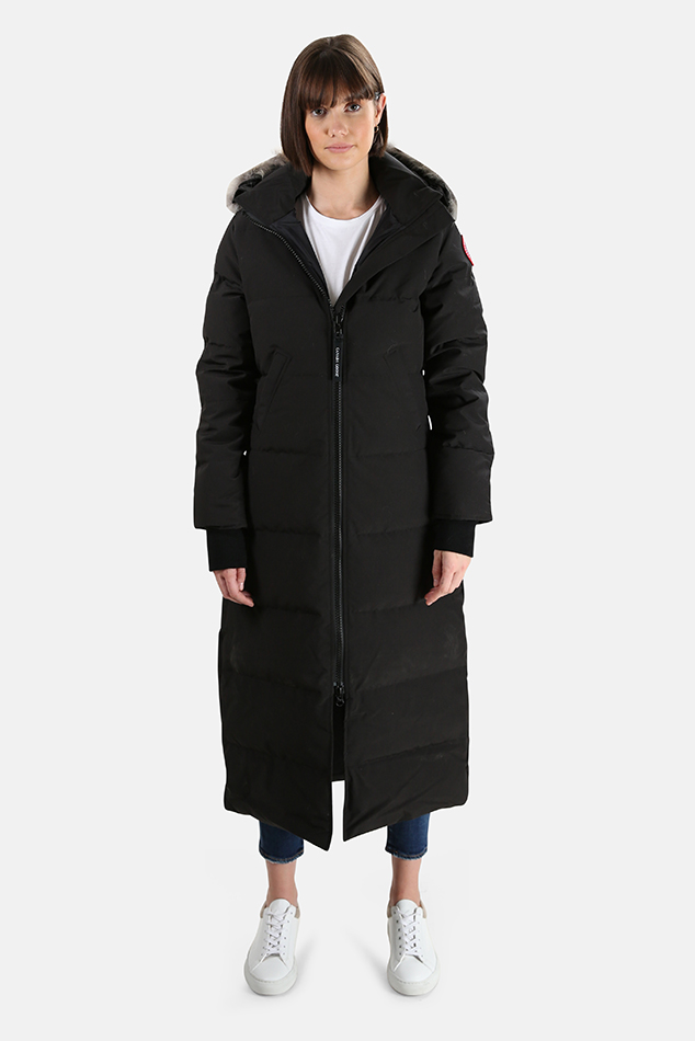Women's Canada Goose Mystique Parka Jacket in Black, Size Medium