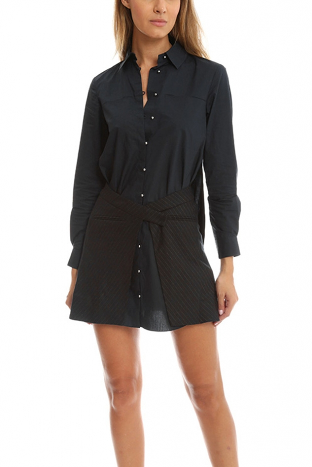 Derek Lam 10 Crosby Long Sleeve Shirtdress