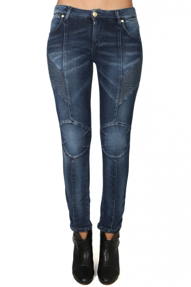 Pierre Balmain Stretch Moto Jean