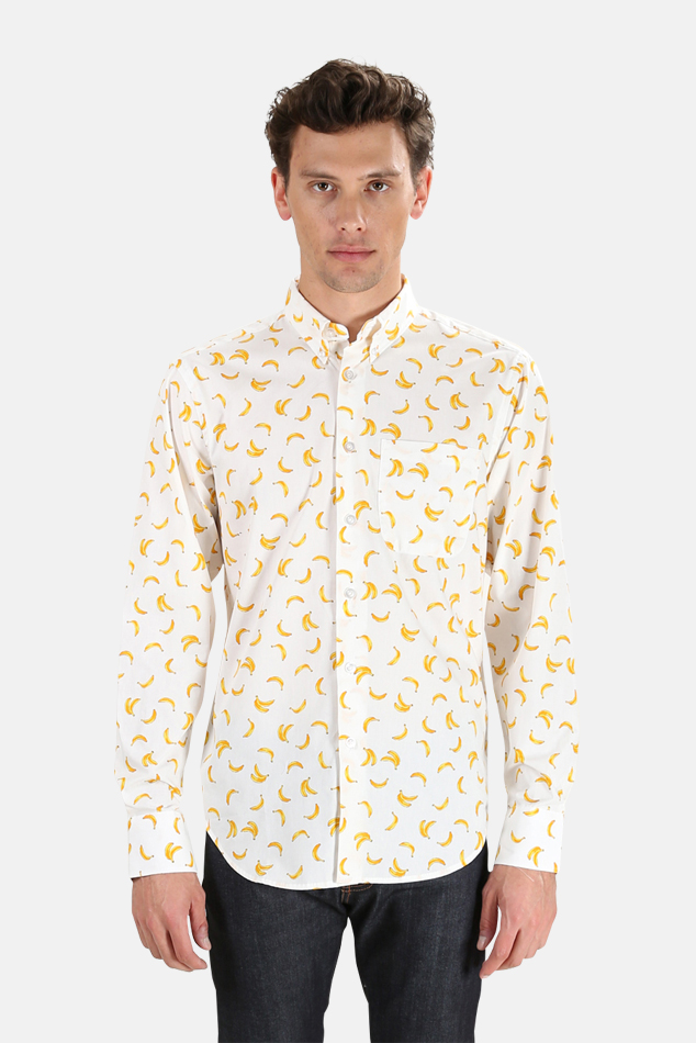Men's Naked & Famous Easy Shirt in White, Size XL