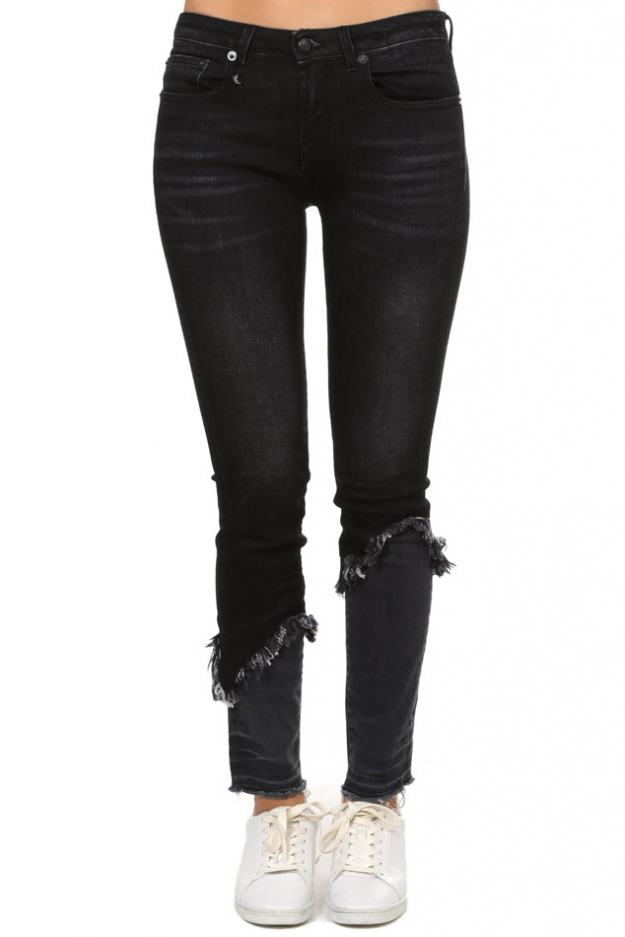 R13 Alison Skinny with Double Shredded Hem