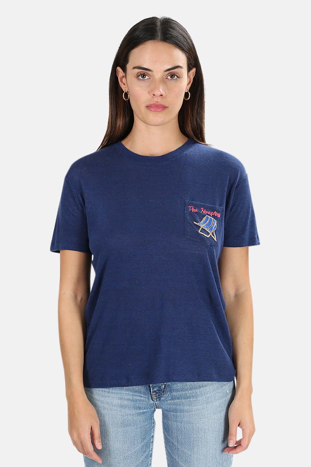 Women's Banner Day Hamptons Graphic T-Shirt in Navy, Size 1