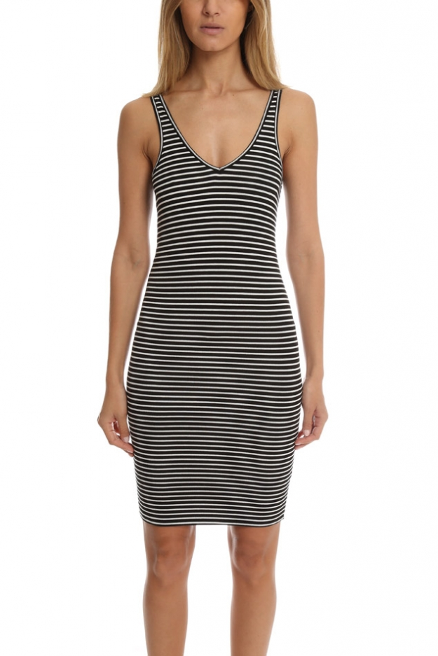 ATM Striped Wrestler Tank Dress