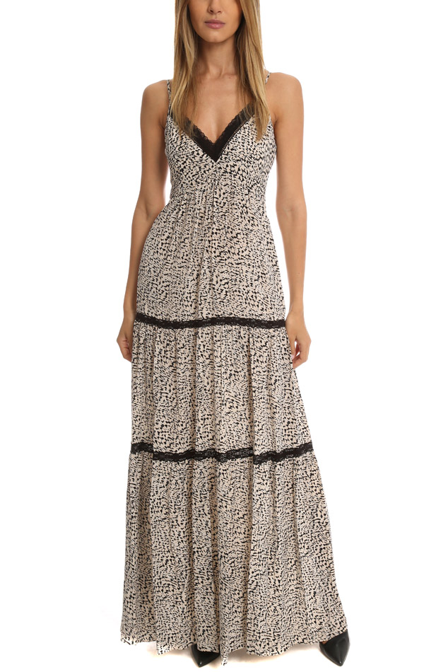 L'Agence Abby Lace Trim Maxi L'AGENCE