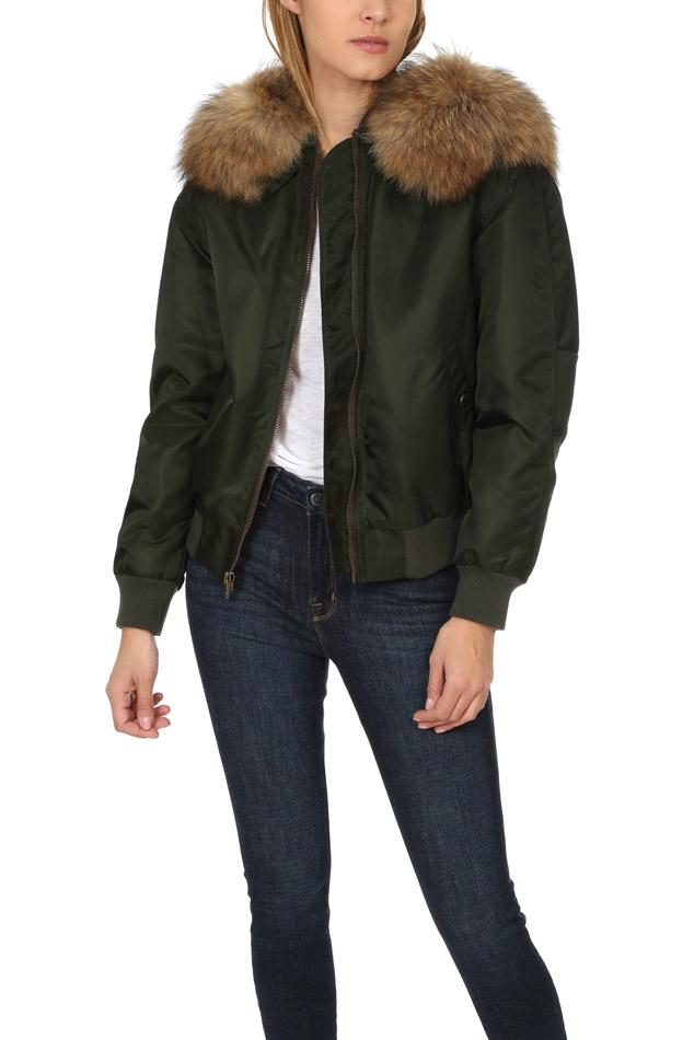 Women's Mr & Mrs Italy Bomber Jacket in Green, Size Small
