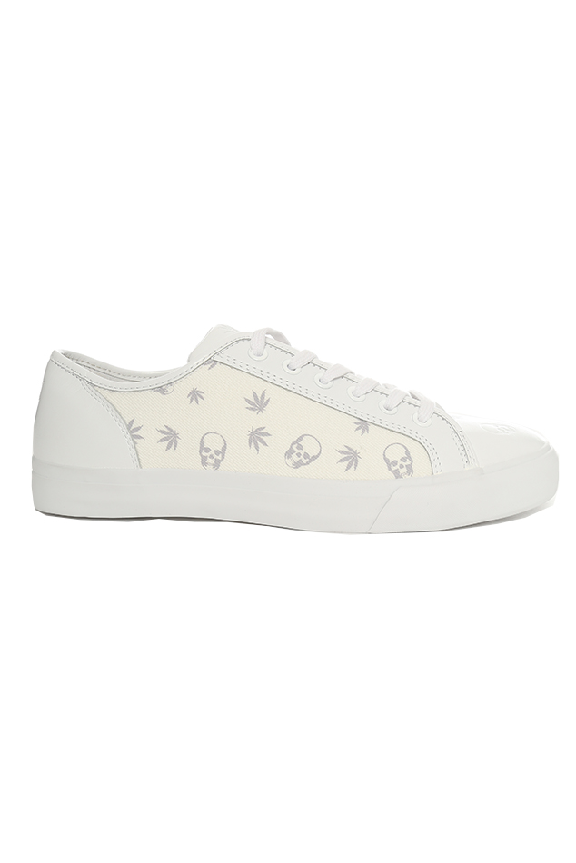 Lucien Pellat-Finet Monogram Mix Sneaker Shoes in White, Size 10