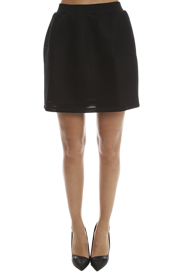 Women's McQ Alexander McQueen Volume Party Skirt in Black, Size Small