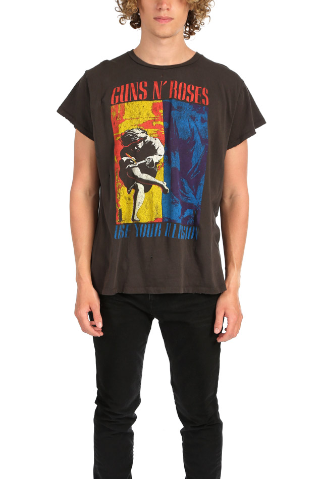 MadeWorn Rock Guns N' Roses Use Your Illusion Graphic T-Shirt in Dirty Black, Size Small