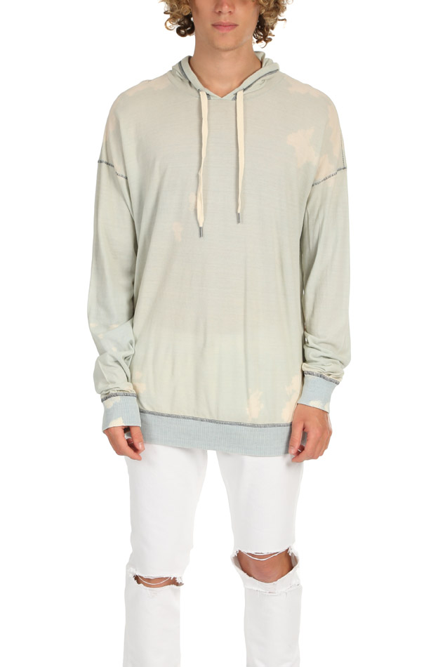 Men's NSF Cory Jersey Hoodie - B&C EXCLUSIVE Sweater in Bleached Cloud, Size Large
