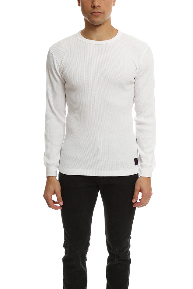 Men's Stussy Classic Thermal Sweater in White, Size Large
