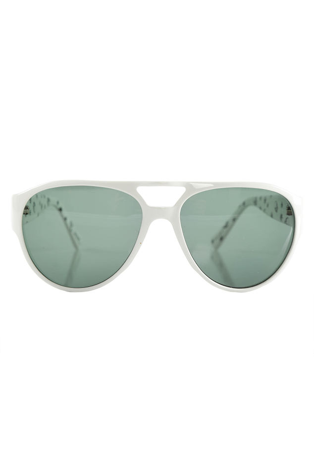 Lucien Pellat-Finet Leaf Sunglasses in White