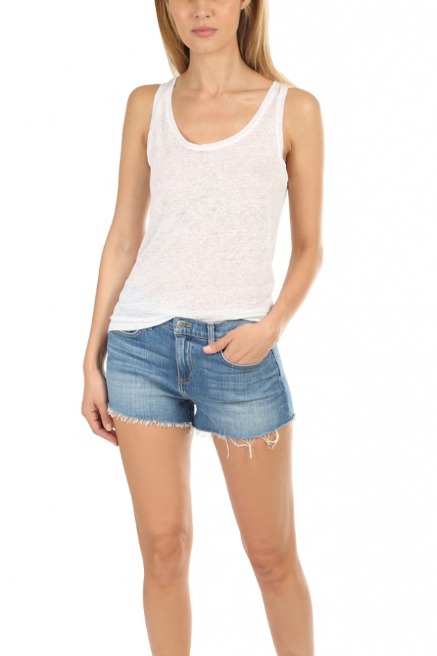 Majestic Filatures Linen Scoop Neck Tank