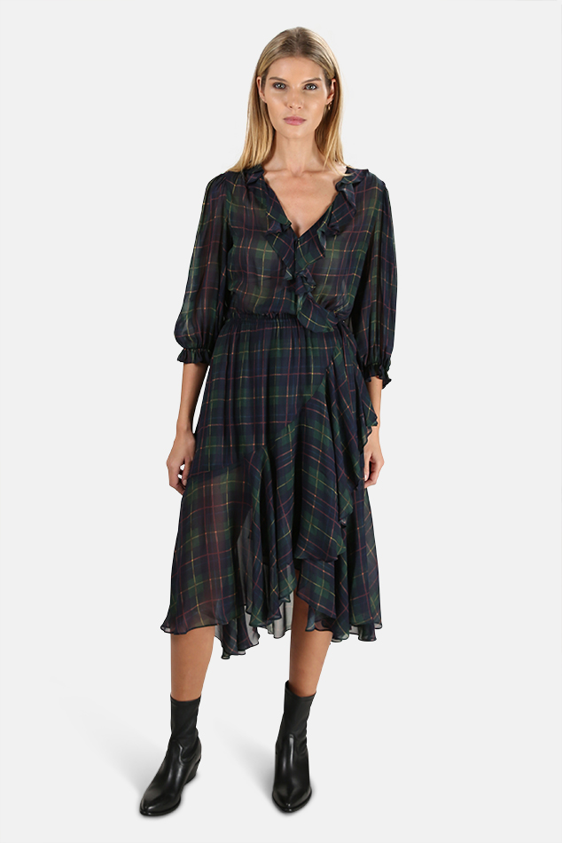 Women's ICONS The Flamenco Dress in Classic Tartan, Size Small