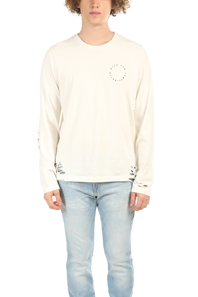Men's Henleys NSF RAF Crewneck LS Top in White, Size Small