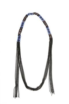 Chan Luu Blue Glass Bead Necklace