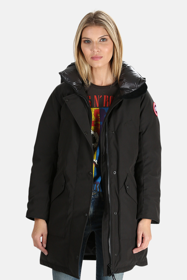 Women's Canada Goose Ellesmere Parka Jacket in Black, Size Small