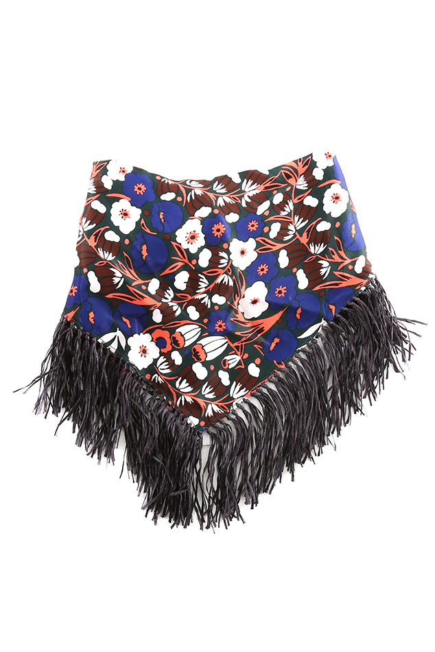 Women's Derek Lam 10 Crosby Fringe Scarf in Blue
