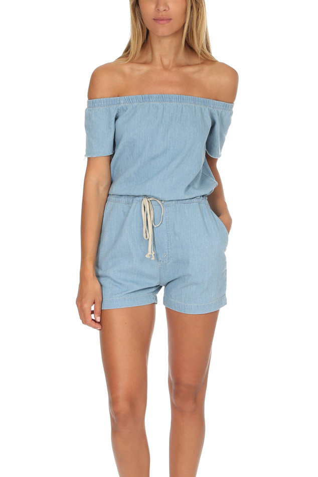 Women's MOTHER Cold Shoulder Romper in Anywhere The Sun Shines, Size XS