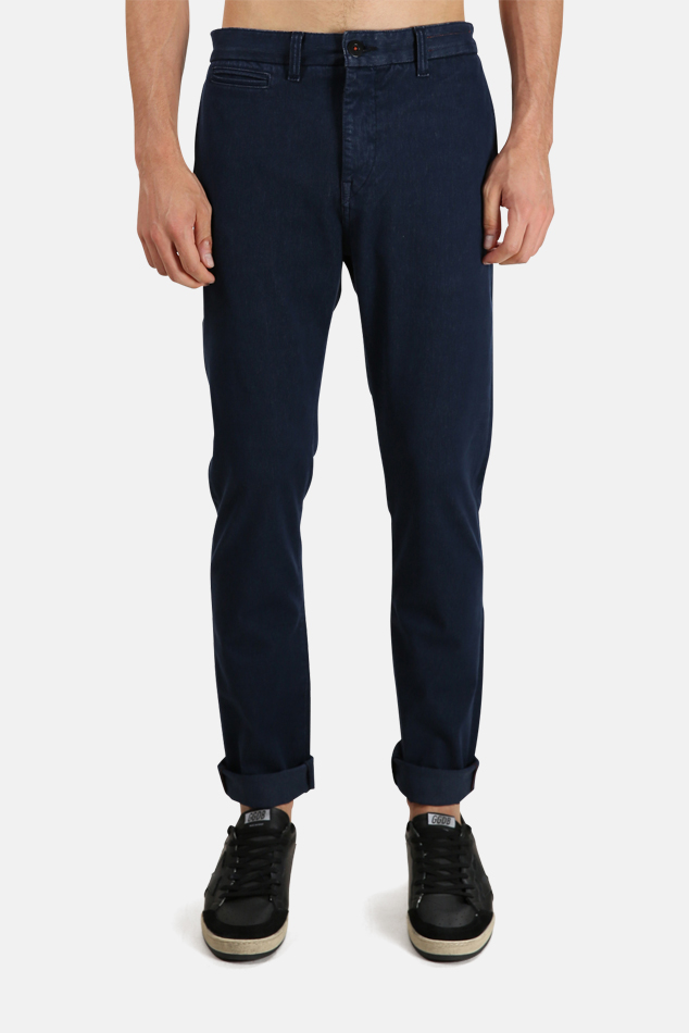 Men's Kato Axe French Terry Chino Pants in Blue, Size 30