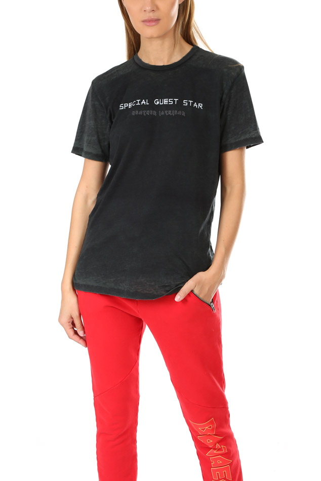 Women's Baja East Guest Star Burn Out T-Shirt in Embassy, Size 0