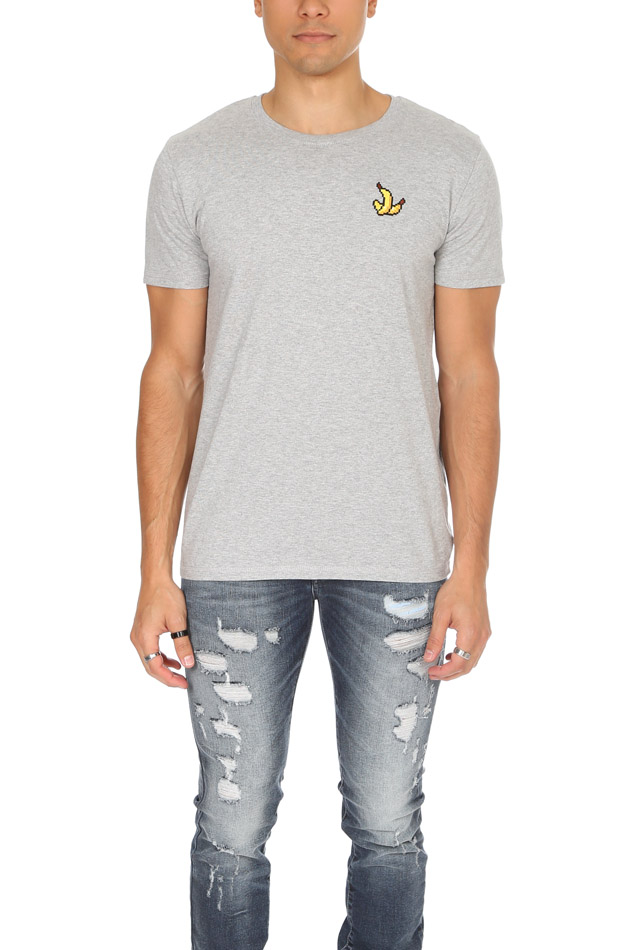 Men's Bricktown Banana Graphic T-Shirt in Grey, Size Small
