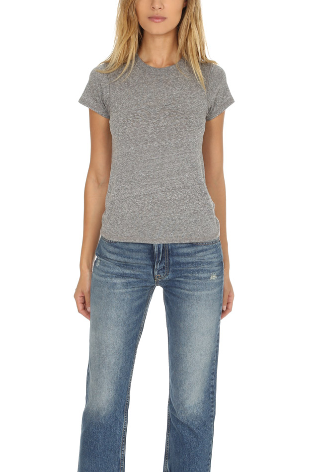 Women's NSF Alessi T-Shirt in Grey, Size Petite