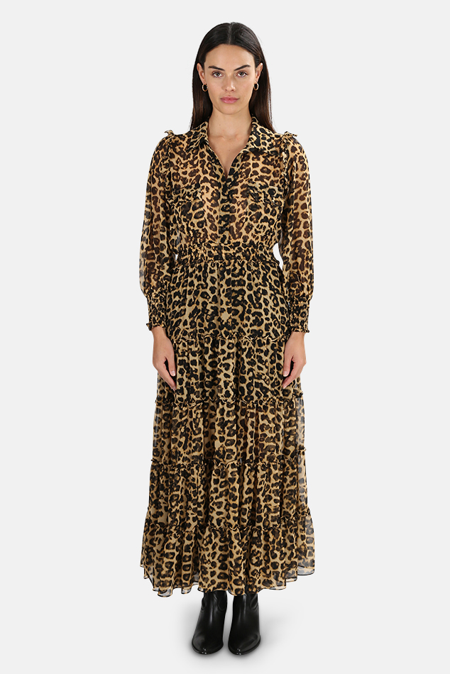 Women's MISA Los Angeles Aydeniz Dress in Leopard, Size Medium