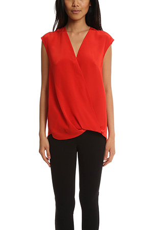 3.1 Phillip Lim Soft Draped Sleeveless Blouse LIMS6-4