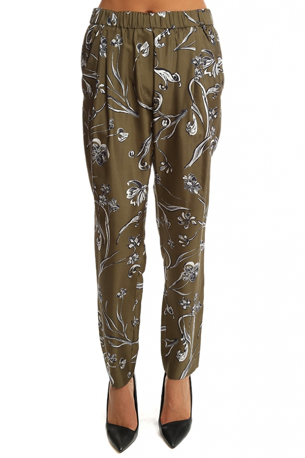 3.1 Phillip Lim Floral Print Draped Trouser