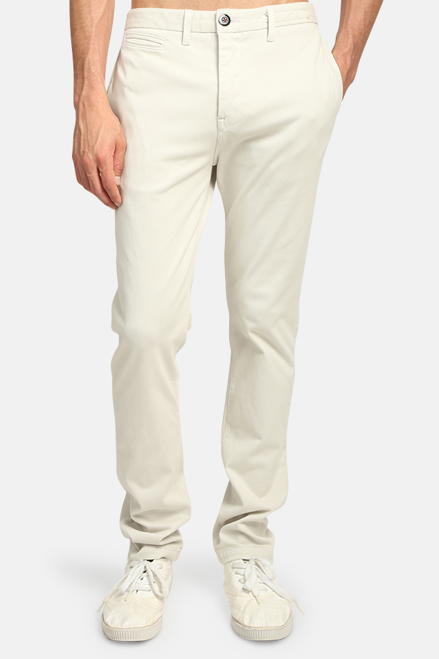 Men's Kato Axe French Terry Chino Pants in light grey, Size 32